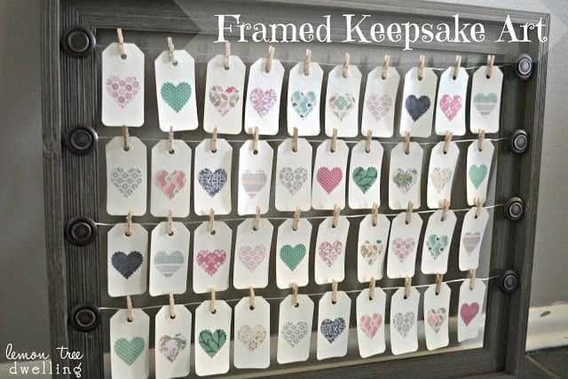 This Framed Keepsake Art is a simple and easy way to share your love, goals and moments for your family. A beautiful treasure to have in your home