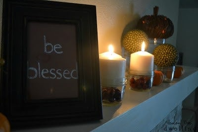 This Thankfulness Mantel is a perfect way to decorate and give thanks for the holidays.