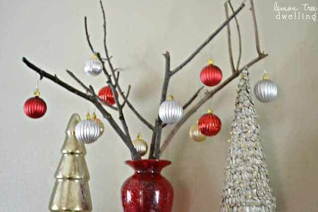 This Bare Branch Christmas Tree is a beautifully simple holiday decor piece.