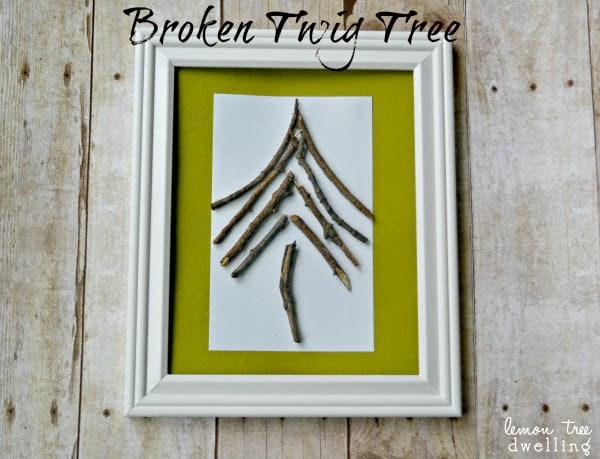 This simple Broken Twig Tree comes together in just minutes