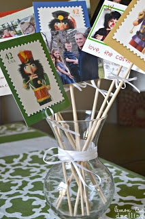 A simple way to display Christmas Cards!