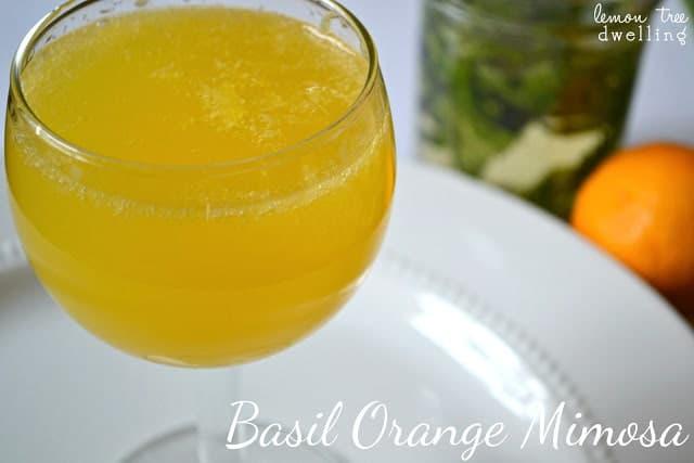 Basil Orange Mimosa will awaken your senses on your next brunch!
