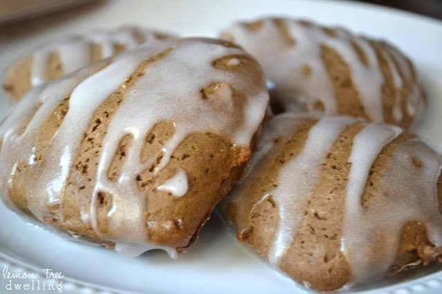 Quick & Easy Gingerbread Scones with a sweet lemon glaze - the perfect breakfast treat!
