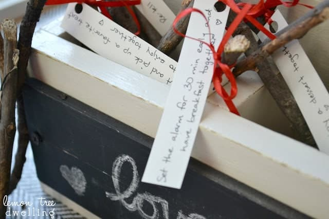 wooden box full of Love Kindling