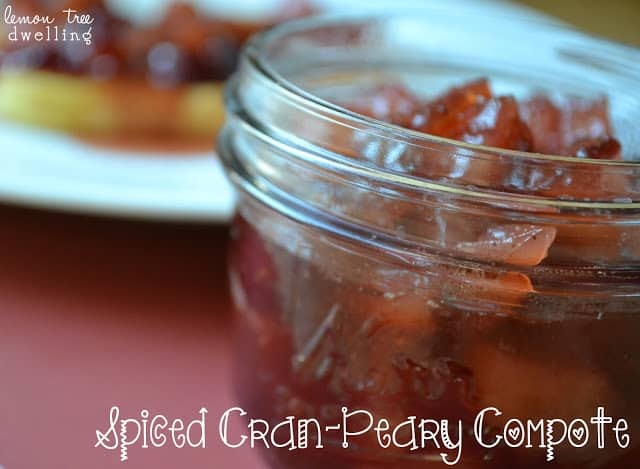 This Spiced Cran-Peary Compote is a delicious addition to your sweet treats.