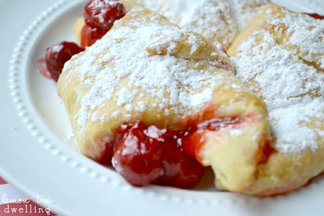 Cherry Cheesecake Breakfast Bundles are a decadent brunch item or a quick cherry dessert.