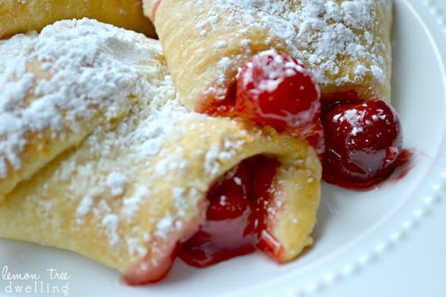 Cherry Cheesecake Breakfast Bundles are a decadent brunch item or a quick cherry dessert.