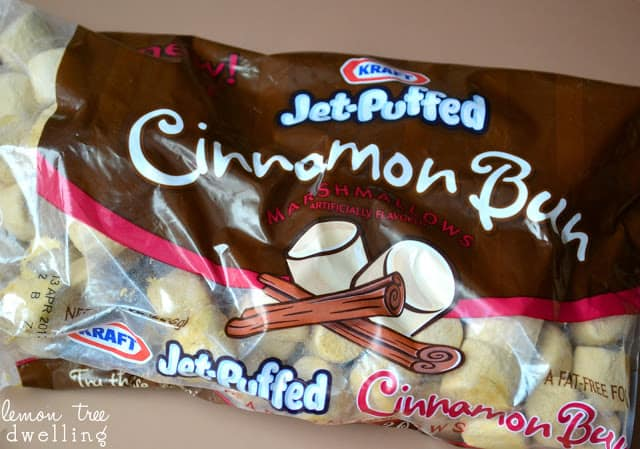Jet puffed Cinnamon bun marshmallows