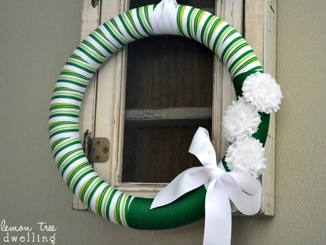 St. Patrick's Day Wreath is a beautiful addition to your doorway.