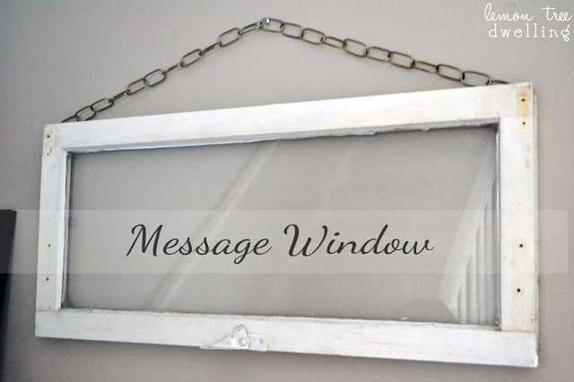 repurposed window becomes DIY wall art - a message window