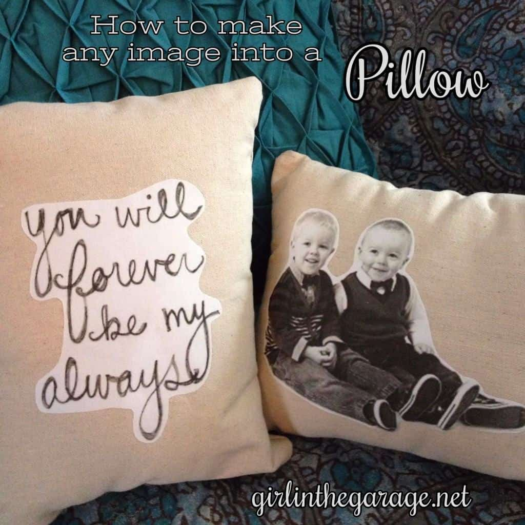 Make any image into a Pillow. Tutorial by Girl in the Garage.