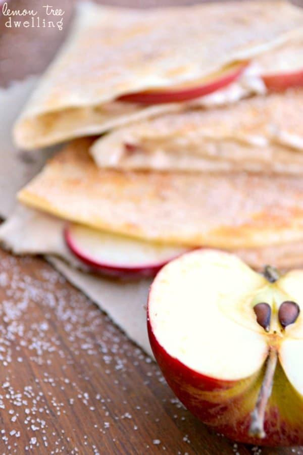 Apple Cheesecake Breakfast Quesadillas - {aka Dessert for Breakfast!}