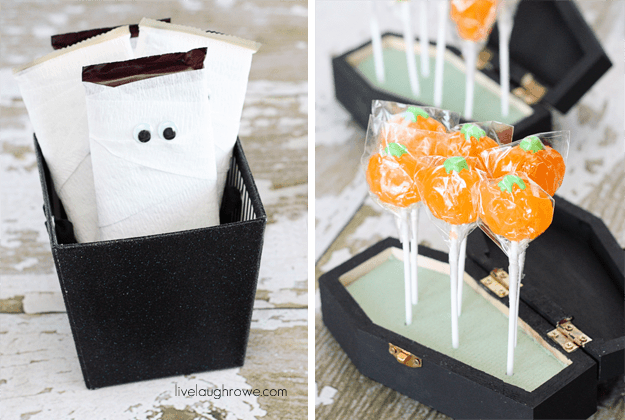 http://www.livelaughrowe.com/mummy-chocolate-bars-and-lollipop-coffins/