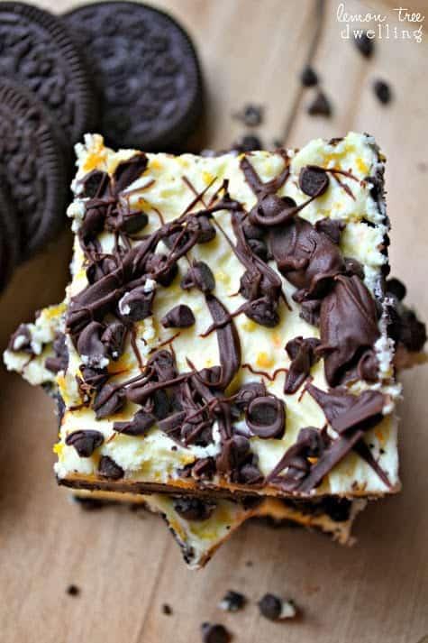 No Bake Chocolate Orange Meltaways Dessert Bars
