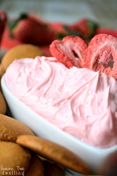 Creamy Strawberry Dip is a quick, flavorful treat perfect for dipping cookies, graham crackers, chocolate, or fresh strawberries!