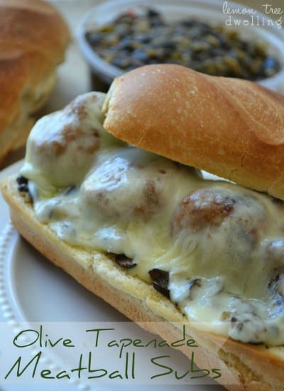 Olive Tapenade Meatball Subs