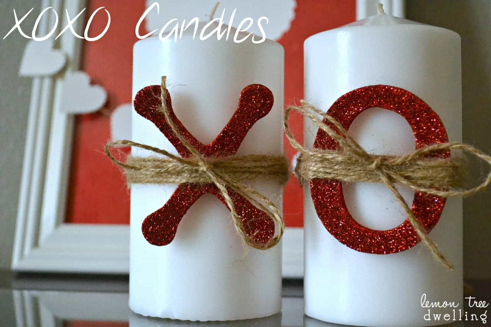 xoxo candles oerfect for valentines day