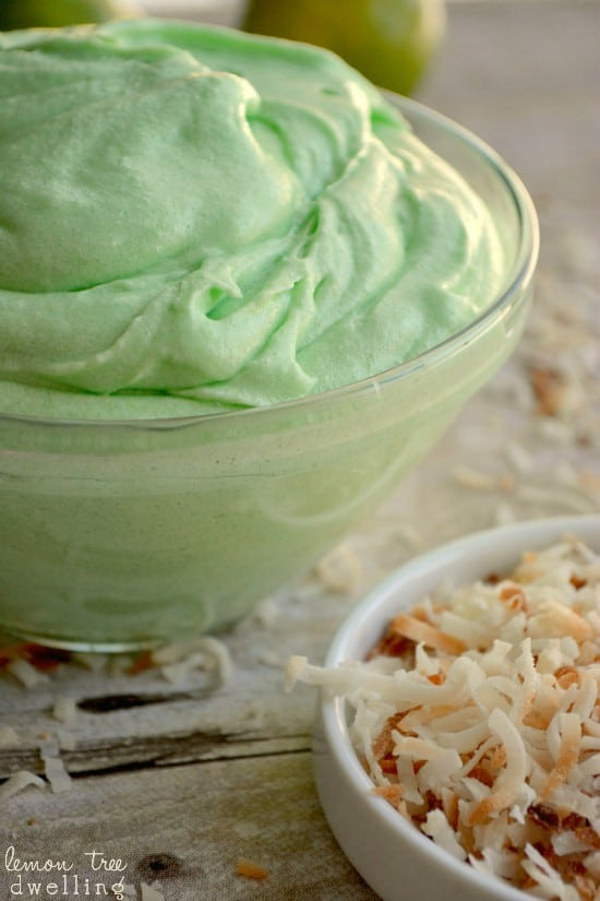 Lime Cream Cheese Frosting is a tangy and tropical buttercream, perfect for any cake!