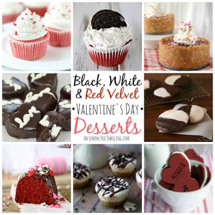 Black White and Red Valentine's Day Desserts