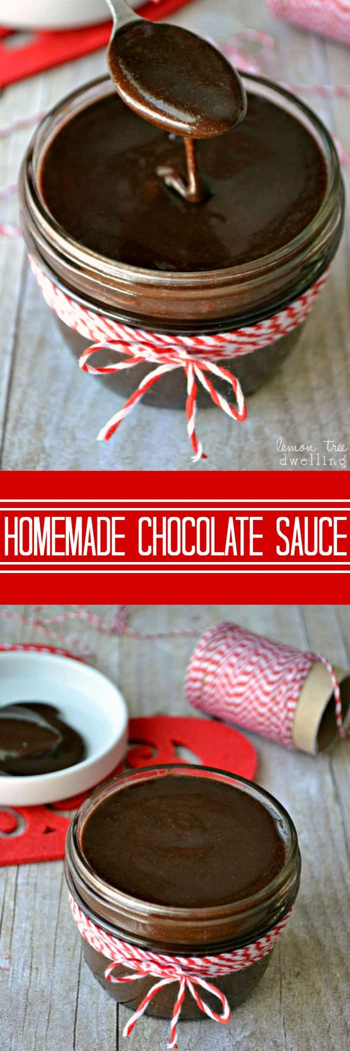 Rich, thick homemade chocolate sauce made with just 5 ingredients and perfect for drizzling on all your favorite desserts!