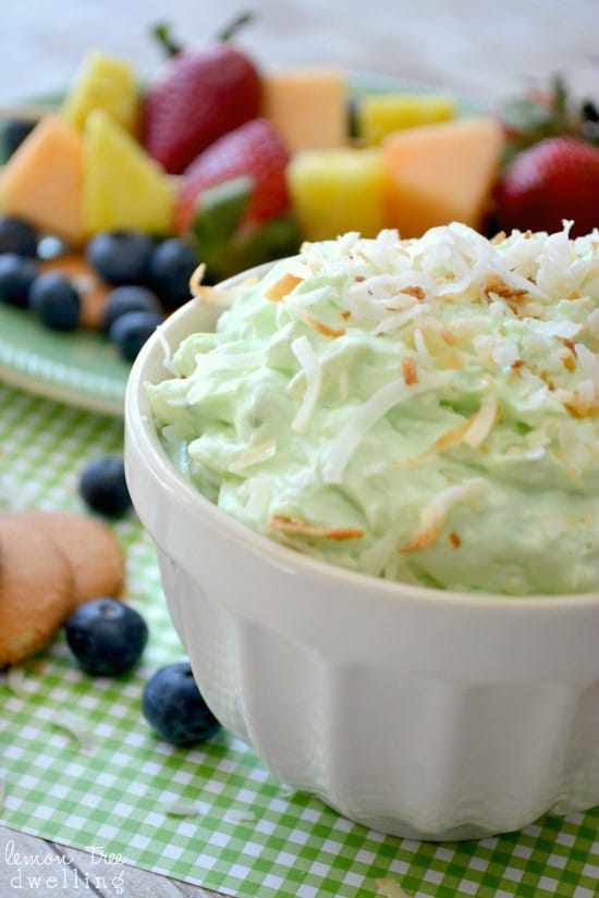 If you love dessert dips, this Pistachio Pineapple Dip is for you! It's a deliciously sweet, creamy dip made with just 5 ingredients. Perfect for dipping cookies, fruit, or whatever your heart desires!