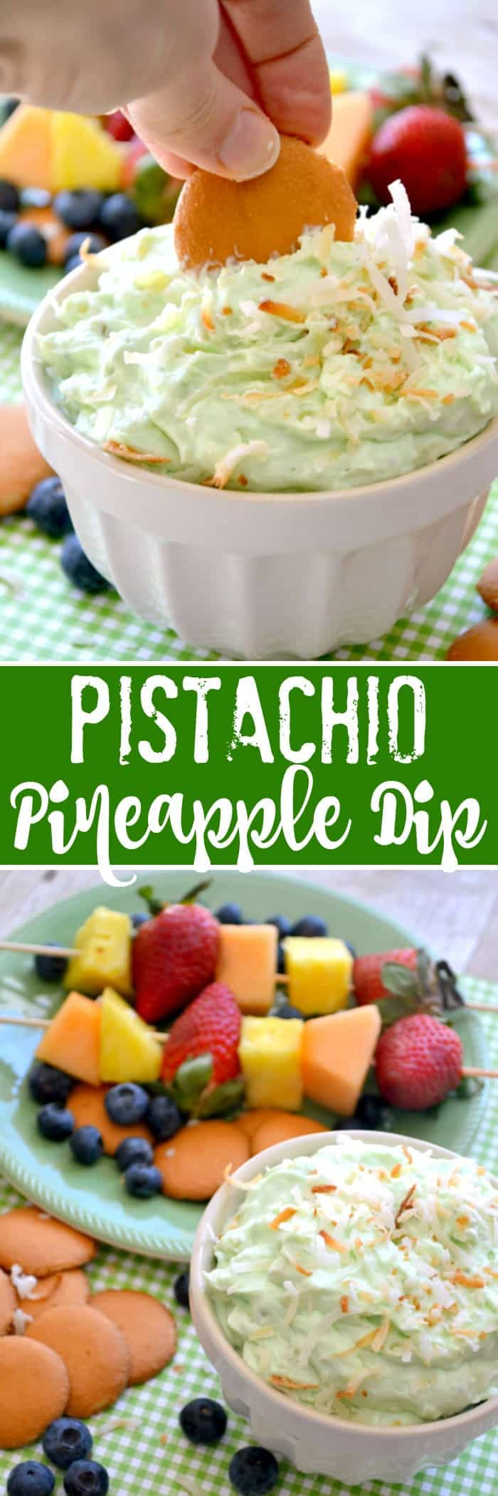 Pistachio Pineapple Dip is a dessert dip to die for! It's a deliciously sweet, creamy dip made with just 5 ingredients.