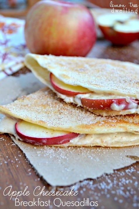 Apple Cheesecake Breakfast Quesadillas 1