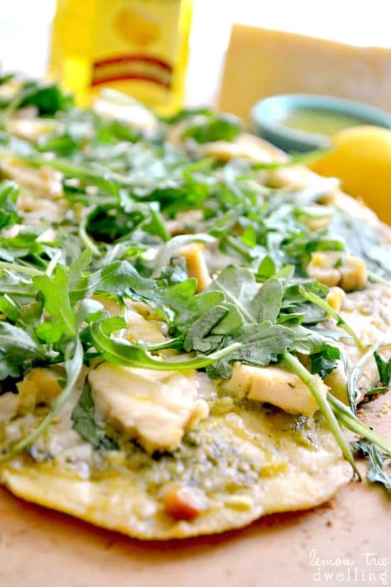 Pesto Chicken Flatbread 2