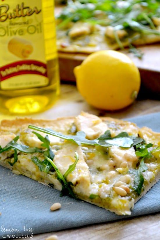 Pesto Chicken Flatbread 3