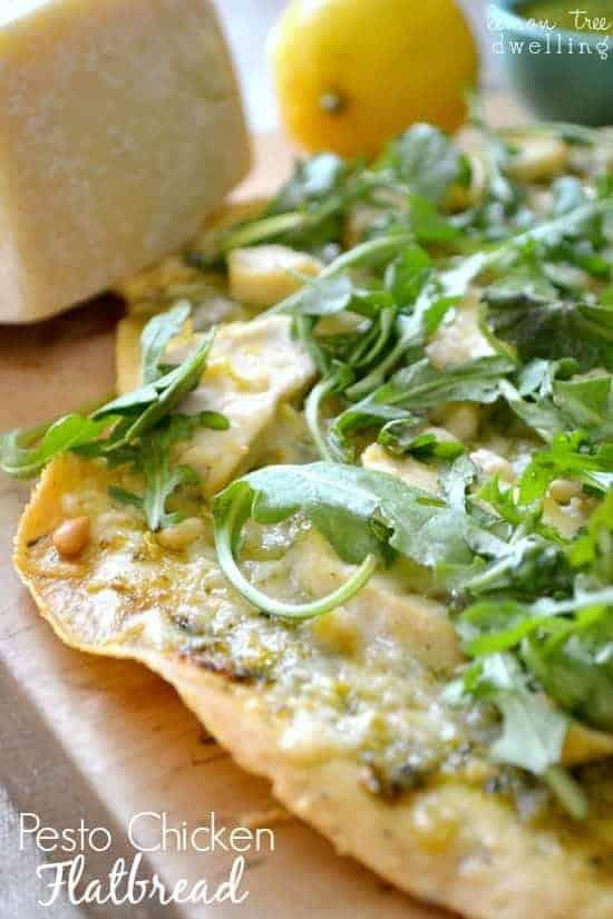 Pesto Chicken Flatbread 5