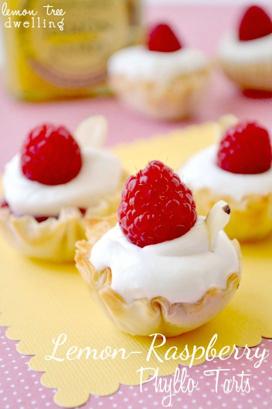 Lemon-Raspberry Phyllo Tarts 1c