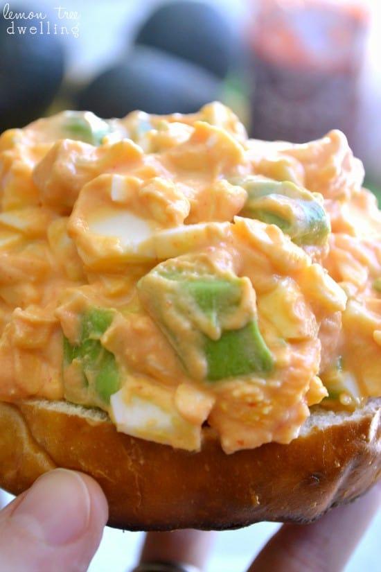 Sriracha Egg Salad {Skinny Recipe}