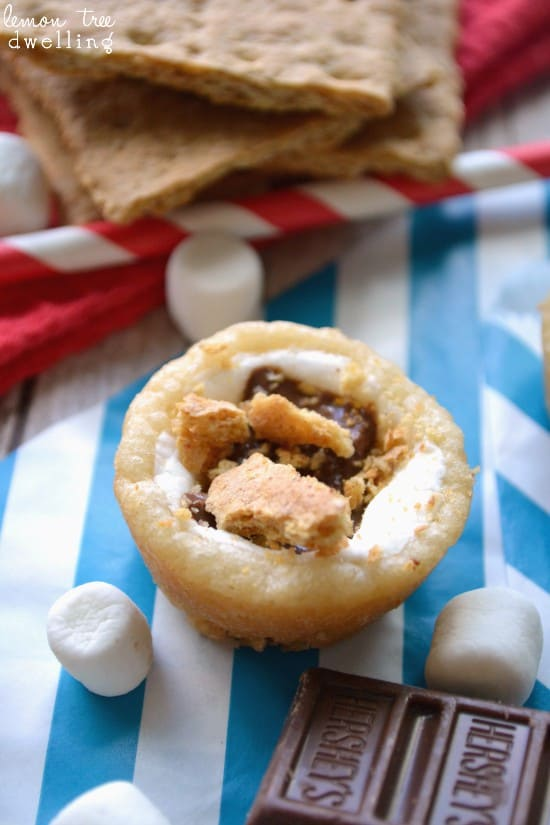 S'mores Sugar Cookie Cups - such a fun way to enjoy s'mores!