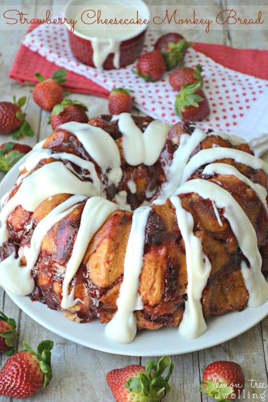 Strawberry Cheesecake Monkey Bread 3c