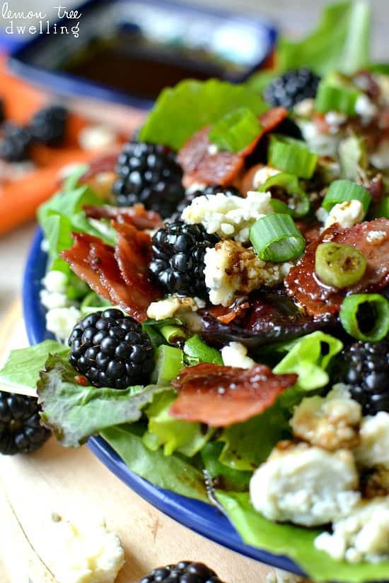 Blackberry, Bacon & Blue Cheese Salad w/ Honey Balsamic Vinaigrette