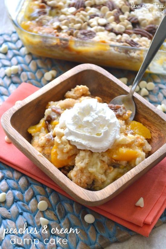 Peaches & Cream Dump Cake 4b