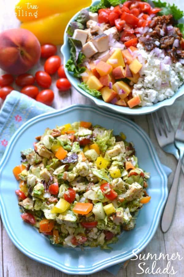 Chopped Italian Salad & Peachy Cobb Salad - both awesomely delicious! #MyPicknSave #shop #cbias