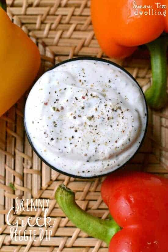 Skinny Greek Veggie Dip - a great way to eat more veggies!