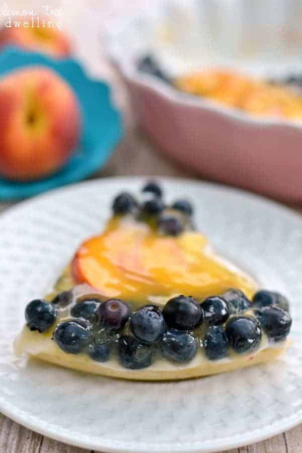 Fresh Blueberry Peach Tart & Kizmos Flora Collection giveaway!