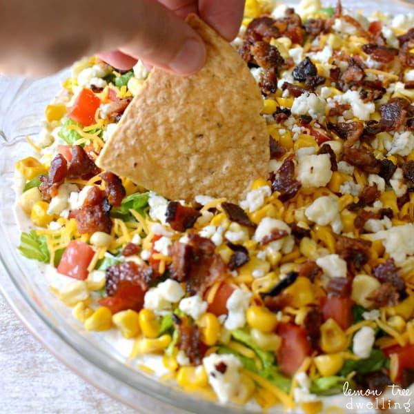 Cobb Dip - SO delicious with tortilla chips!
