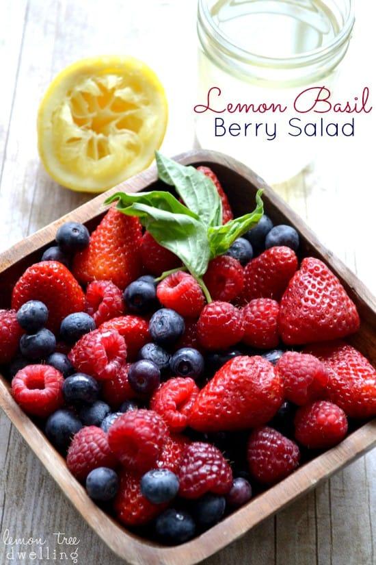 Lemon Basil Berry Salad 2