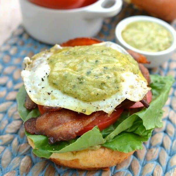 Fried Green Egg BLT square