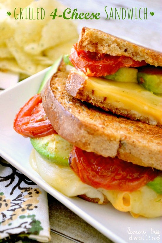 Loaded Grilled Cheese Sandwich 1c