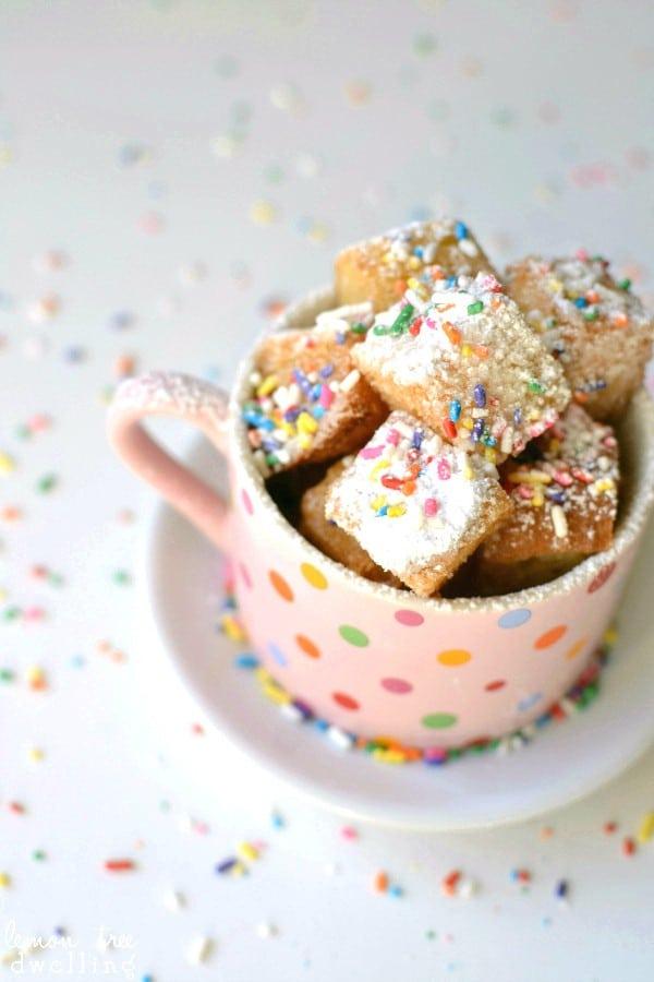 Bronut Bites {Brioche Donut Bites} - a deliciously simple alternative to donuts!