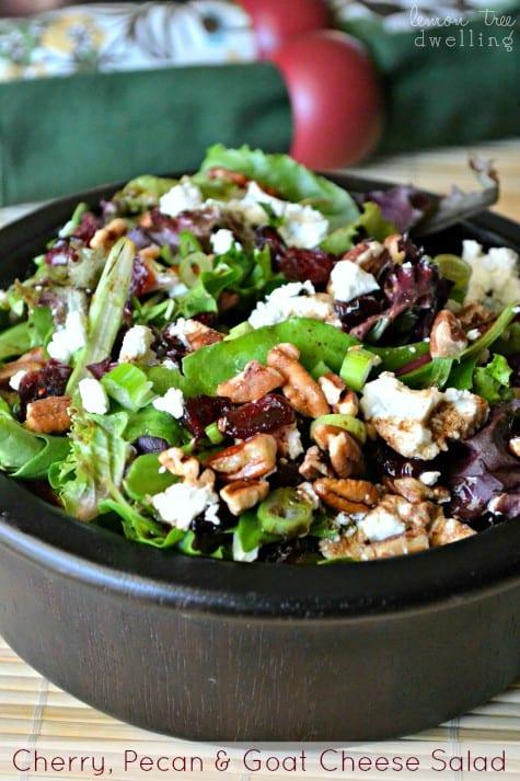 Cherry, Pecan & Goat Cheese Salad 1 - Copy
