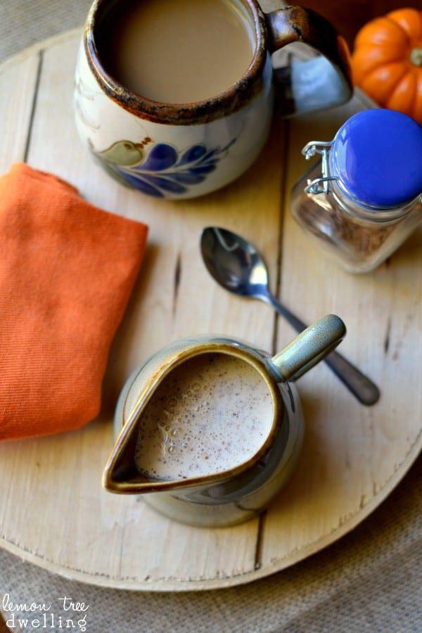 Pumpkin Spice Coffee Creamer - just 4 simple ingredients!