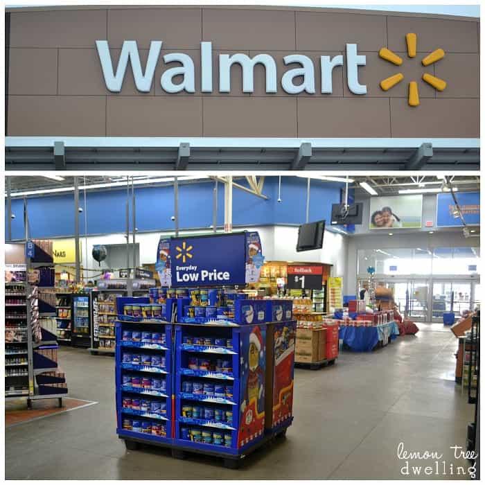 Inside Walmart Store