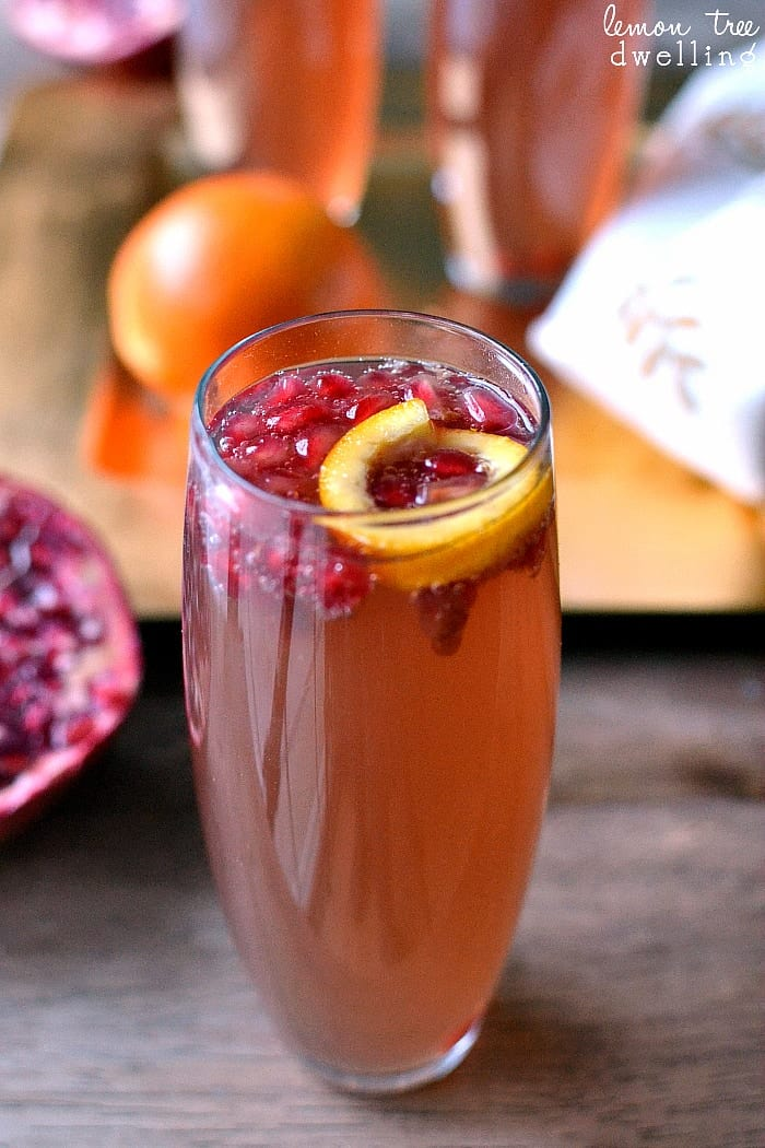 Pomegranate Orange Fizz Cocktail combines the classic flavors of pomegranate and orange with the celebratory feel of champagne. This festive drink is sure to be a crowd favorite.