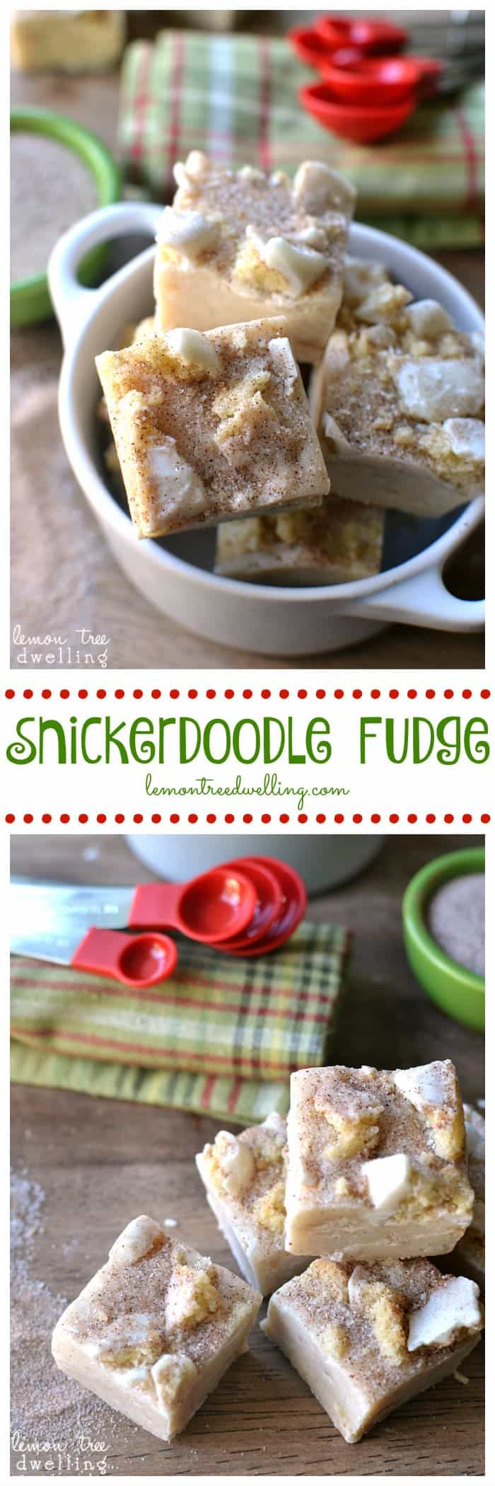 Snickerdoodle Fudge that tastes just like REAL snickerdoodle cookies! So rich and full of cinnamon, this quick and easy fudge recipe is a delicious treat!