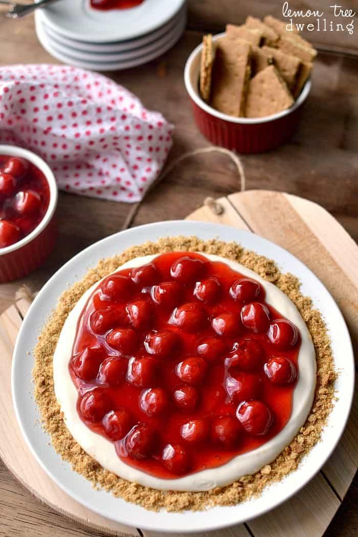 The BEST Cherry Cheesecake Dip!